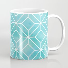 Geometric Crystals: Sea Glass Coffee Mug