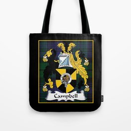 Campbell Clan Scottish Coat Of Arms And Crest Tote Bag