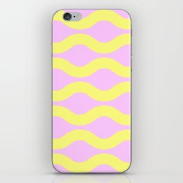 Wavey Lines Yellow & Pink iPhone Skin