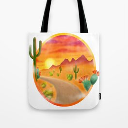 Desert Road Tote Bag