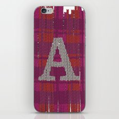 Winter clothes. Letter A III. iPhone & iPod Skin