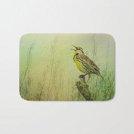 The Meadow Lark Sings Bath Mat