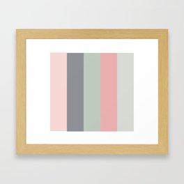 Vintage Sundown Color Palette Framed Art Print