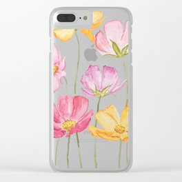 colorful cosmos flower Clear iPhone Case