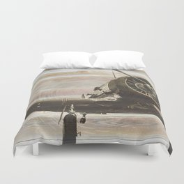 Old airplane 2 Duvet Cover