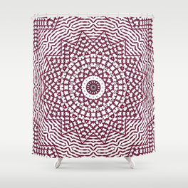 Helios (red-white) Shower Curtain