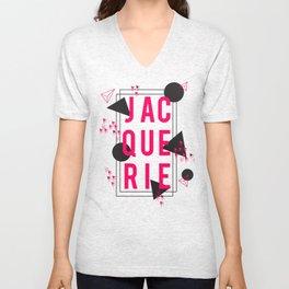 Jacquerie Pink Unisex V-Neck