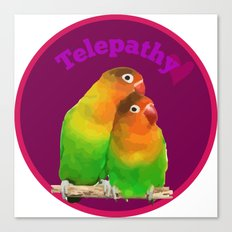 telepathy birds Canvas Print