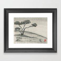 Lone Juniper Framed Art Print