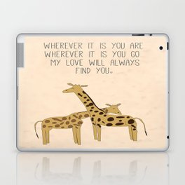 My Love Will Always Find You Laptop & iPad Skin