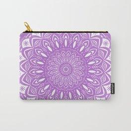 Beautiful Purple Violet Mandala Design Pattern Minimal Minimalistic Carry-All Pouch