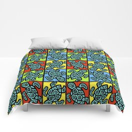 Pop Turtles Comforters