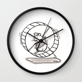 SPINNING YOUR HAMSTER WHEELS Wall Clock