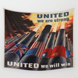 Vintage poster - Allies Wall Tapestry