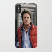 marty mcfly iPhone & iPod Cases featuring Marty McFly by Kaysiell