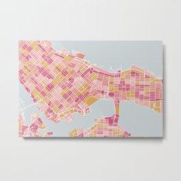 Colorful Vancouver map Metal Print