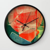 mars Wall Clocks featuring Mars by Fernando Vieira