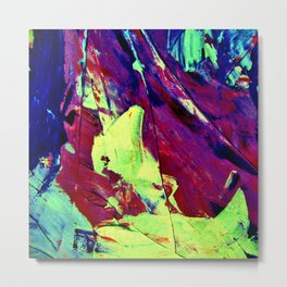 Red,Blue, Green, Yellow,Purple Abstract Painting Metal Print