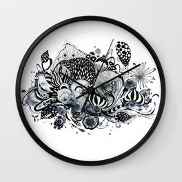 Muted Menagerie Wall Clock