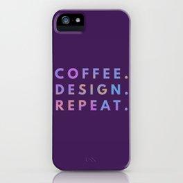 Coffee Design Repeat iPhone Case