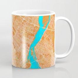 Montreal, Canada, Gold, Blue, City, Map Coffee Mug