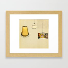 Retro Lampshades Framed Art Print