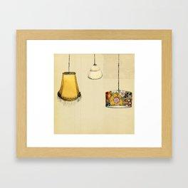 Retro Lampshades Framed Art Print