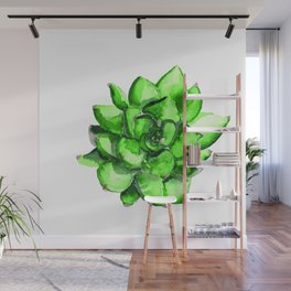 Green Watercolor Succulent | Mohntage Wall Mural