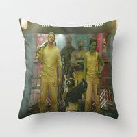 guardians of the galaxy Throw Pillows featuring Guardians of The Galaxy by Kelsey