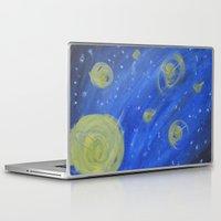 fireflies Laptop & iPad Skins featuring Fireflies by Angelina Yvette