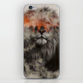 Lion In Fog iPhone Skin