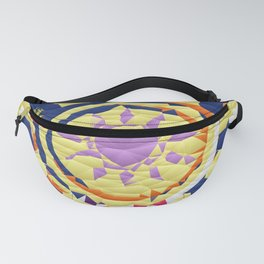Colorful Quilted sun pattern Abstract Fanny Pack