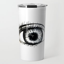 Looking In #1 - Original sketch to digital art Travel Mug
