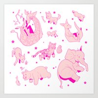 Baby Animals Art Print