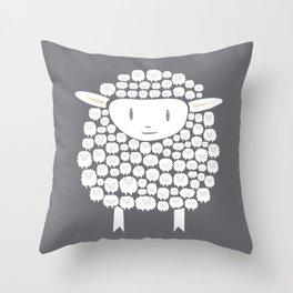 Baa baa White Sheep Throw Pillow