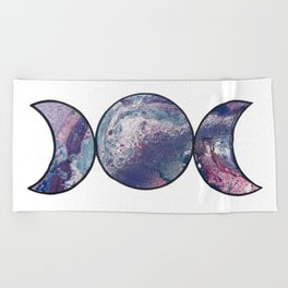 Marbled Triple Moon Beach Towel