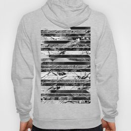 Black And White Layered Collage - Textured, mixed media Hoody