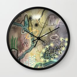 New Worlds Trail Map: The Land of Tall Things Wall Clock