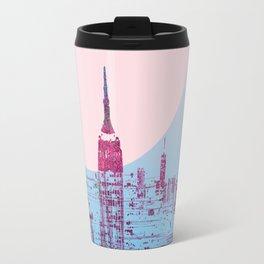 Sun In The City Skyline Design Travel Mug