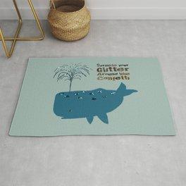 Glitter Whale Rug