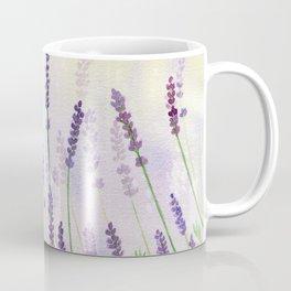 Lavender Flowers Watercolor Coffee Mug