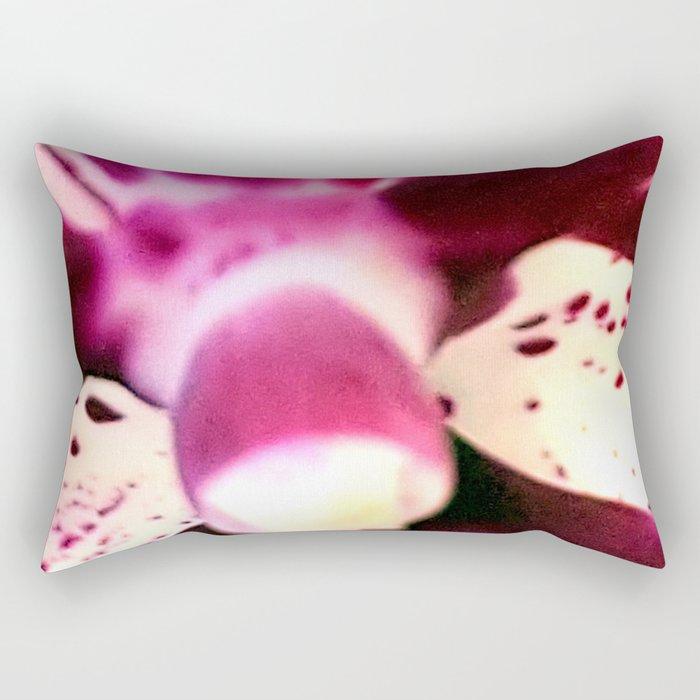 Purple Orchid Beauty Rectangular Pillow