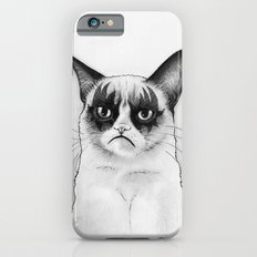 Grumpy Simmons Cat Whimsical Funny Animal Music iPhone 6s Slim Case