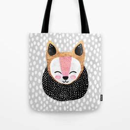 Little Arctic Fox Tote Bag