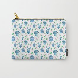 Blue Bunny Pattern Carry-All Pouch