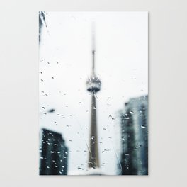 CN Tower on a Rainy Day Canvas Print