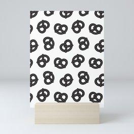Postmodern Pretzels in Black + White Mini Art Print