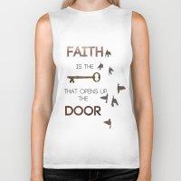 faith Biker Tanks featuring Faith by georgiedavey