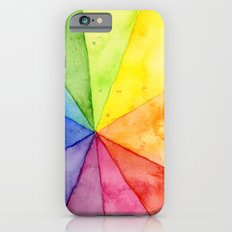 Rainbow Watercolor Geometric Pattern Slim Case iPhone 6