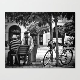Time to Chat Canvas Print